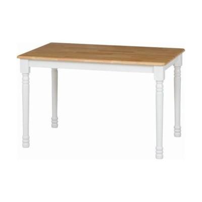 不二貿易 5点用ダイニングテーブルマキアート /96668 ナチュラル×ホワイト/テーブル