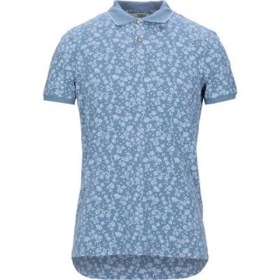 セブンティ SEVENTY SERGIO TEGON メンズ ポロシャツ トップス Polo Shirt Pastel blue