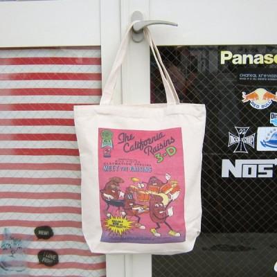 レターパックプラス対応 カリフォルニアレーズン トートバッグ A4サイズ コットン製 肩掛けバッグ かばん カバン 可愛い アメリカキャラクター 男女兼用