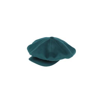 ボルサリーノ BORSALINO 帽子 エメラルドグリーン 56 バージンウール 100% 帽子