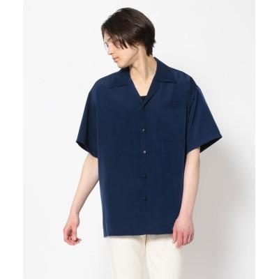 (BEAVER/ビーバー)CalTop / キャルトップ OPEN COLLAR S/S SHIRT オープンカラーSSシャツ/メンズ NAVY
