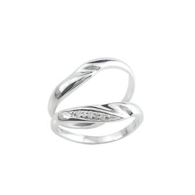 結婚指輪 マリッジリング ペアリング ウエディング シルバー925 2本セット キュービックジルコニア ストレート カップル 男性用 送料無料
