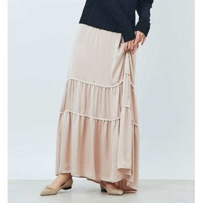 【ルージュ・ヴィフ ラクレ/Rouge vif la cle】 切り替えギャザースカート