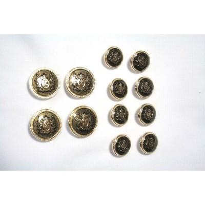 メタルボタンMM-5ゴールド20mm4個15mm8個セットスーツジャケットセット(g-4/8)