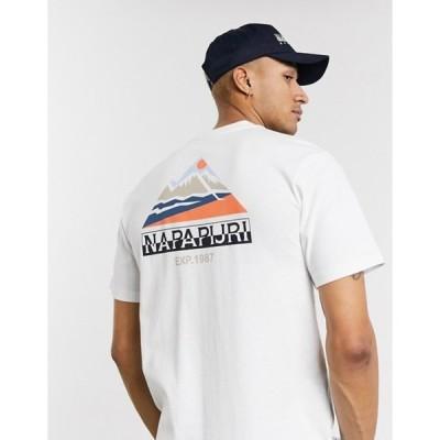 ナパピリ メンズ Tシャツ トップス Napapijri Sole graphic t-shirt in white
