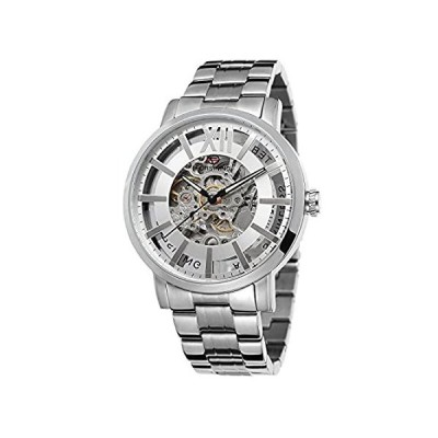 Forsining メンズ 高品質 ステンレススチール 自動巻き ブランドコレクション ブレスレット 腕時計
