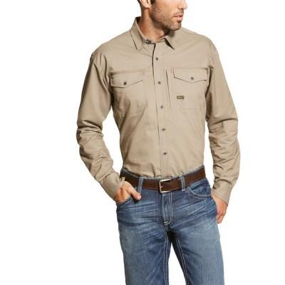 アリアト シャツ トップス メンズ Ariat Men's Rebar Workman Work Shirt Brindle