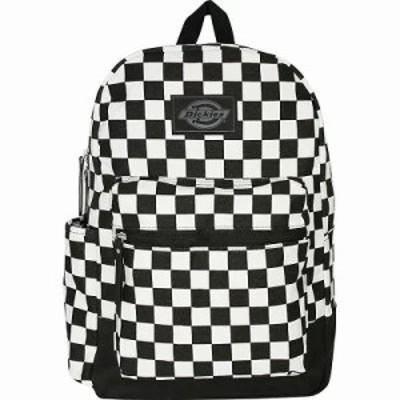 ディッキーズ バックパック・リュック Colton Cotton Canvas Backpack Black/White Checkerboard