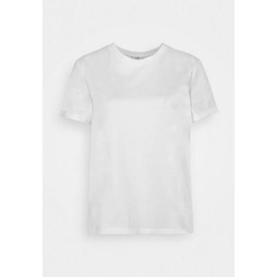マルコポーロ ピュア Tシャツ レディース トップス BOXY SHORT SLEEVE CREW - Basic T-shirt - white