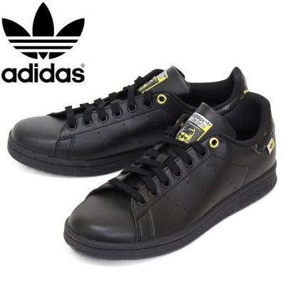adidas (アディダス) FX5646 STAN SMITH W スタンスミス レディーススニーカー コアブラック / ゴールドメタリック / シルバーメタリック AD058