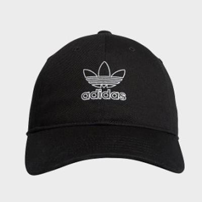 アディダス オリジナルス レディース キャップ adidas Originals Outline Relaxed Precurved Strapback Hat 帽子 Black/White