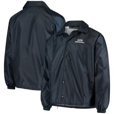 """メンズ ジャケット """"Seattle Seahawks"""" Coaches Classic Raglan Full-Snap Windbreaker Jacket - College Navy"""