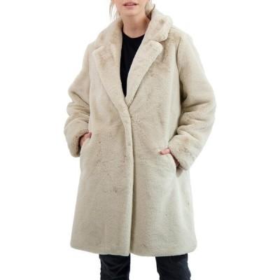 セビー レディース ジャケット&ブルゾン アウター Collection Faux Fur Coat STONE