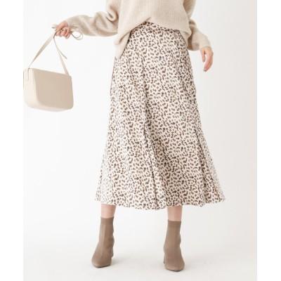 OPAQUE.CLIP / 幾何柄サテンフレアスカート WOMEN スカート > スカート