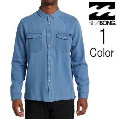 ビラボン Billabong メンズ TERRITORY LS WAVE WASHED 長袖シャツ ba012102