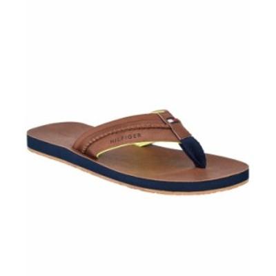 トミー ヒルフィガー メンズ サンダル シューズ Men's Dembo Flip-Flop Sandals Brown/Yellow