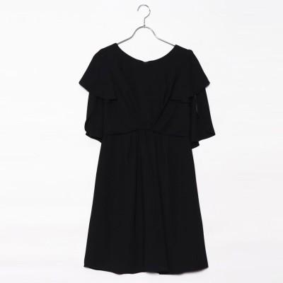 ジュネビビアン Genet Vivien ケープドレス (ブラック)