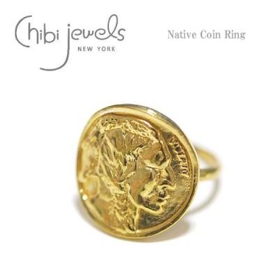 ≪chibi jewels≫ チビジュエルズ ボヘミアン ネイティブコイン ゴールド サークル リング Native Coin Ring (Gold)