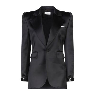 SAINT LAURENT テーラードジャケット ブラック 36 レーヨン 100% / シルク / ポリエステル テーラードジャケット