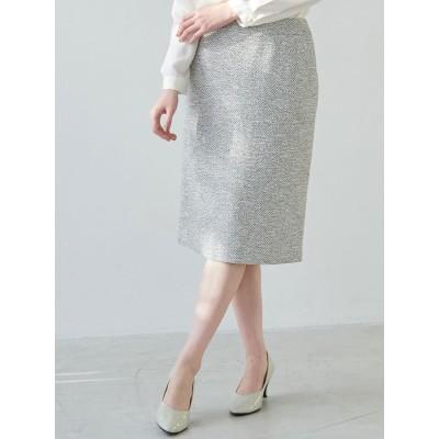 【セットアップ対応】フリンジペンシルツイードスカート