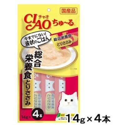 いなば ちゅ~る 総合栄養食 とりささみ 14g×4本 キャットフード