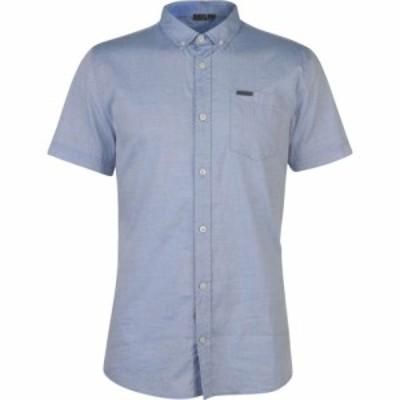 ファイヤートラップ Firetrap メンズ 半袖シャツ トップス Short Sleeve Oxford Shirt Blue