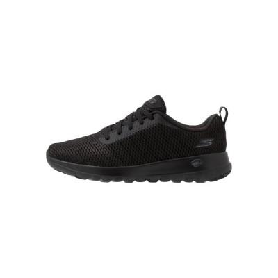 スケッチャーズ スニーカー レディース シューズ GO WALK JOY PARADISE - Walking trainers - black/white