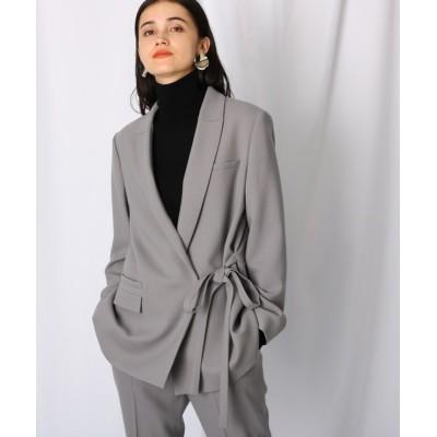 WORLD ONLINE STORE SELECT / ウエストリボン カシュクールデザインジャケット WOMEN ジャケット/アウター > テーラードジャケット