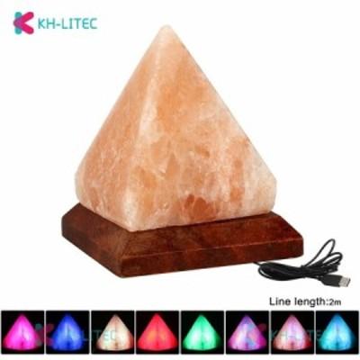 クリスタルソルトランプ ナイトライト 天然水晶 塩 マイナスイオン ヒマラヤ USB