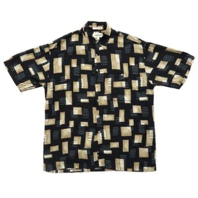 CAMPIA 総柄 半袖シャツ サイズ表記:L