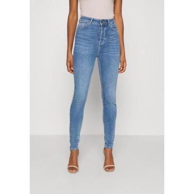オブジェクト カジュアルパンツ レディース ボトムス OBJKELLY HARPER  - Jeans Skinny Fit - medium blue