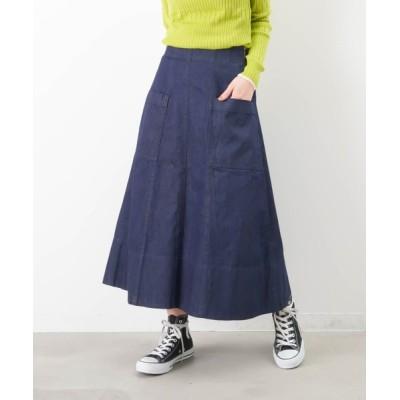 LUCA/LADY LUCK LUCA / LC/LLL デニムポケ付きフレアスカート WOMEN スカート > デニムスカート