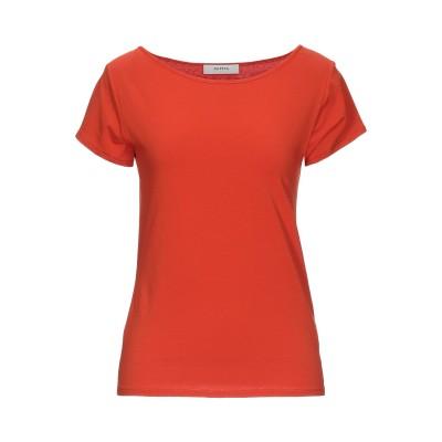 アルファスタジオ ALPHA STUDIO T シャツ 赤茶色 44 コットン 95% / ポリウレタン 5% T シャツ