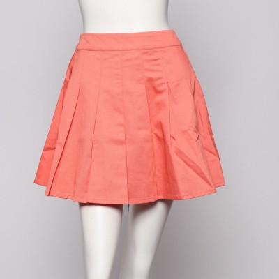 イーハイフンワールドギャラリー E hyphen world gallery outlet ビタミンカラープリーツスカート (オレンジ)