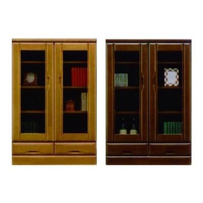 本棚 扉 書棚 完成品 幅80cm 日本製 木製