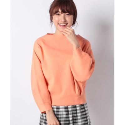 【インタープラネット】 ハーフミラノ裾タックボリューム袖カットソー レディース オレンジ 002 INTERPLANET