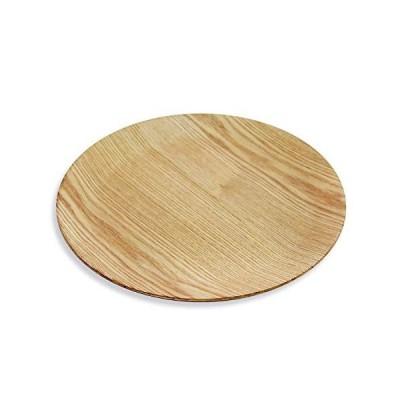 直径30 cm トレー 天然木製 丸盆 パスタ コーヒー トレイうどん皿 カレー皿 パン皿 ホームパーティ用のお皿 耐久性 軽量 プレート皿