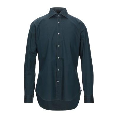TRUZZI シャツ ダークグリーン 42 コットン 100% シャツ