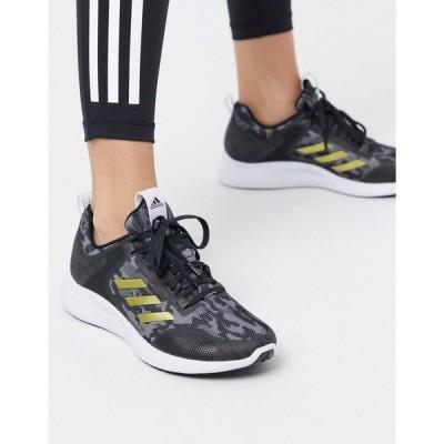 アディダス レディース スニーカー シューズ adidas Running edge bounce sneakers in black Black