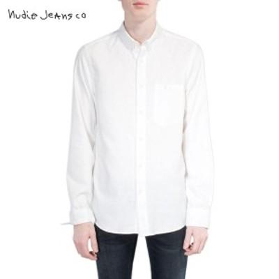 ヌーディージーンズ Nudie Jeans メンズ 長袖シャツ Stanley 140377 3025 Offwhite