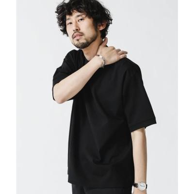 シルケットシアサッカーTシャツ ブラック