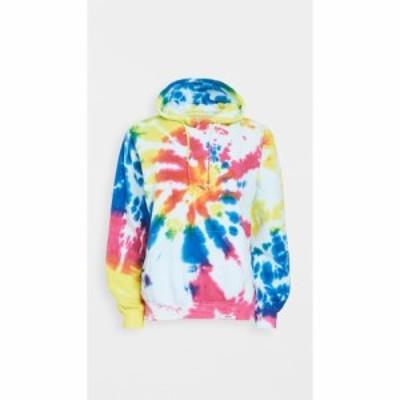 ワースィスレッド Worthy Threads レディース パーカー トップス multi tie dye hoodie Pink/Yellow/Blue