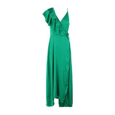 2ND DAY ロングワンピース&ドレス グリーン 34 ポリエステル 97% / ポリウレタン 3% ロングワンピース&ドレス