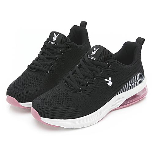 PLAYBOY Candy Bubble 輕量氣墊休閒鞋-黑(Y6736)