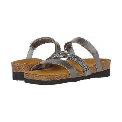 Naot ナオト レディース 女性用 シューズ 靴 サンダル Columbus - Mirror Leather/Gray Black Multi Rivets