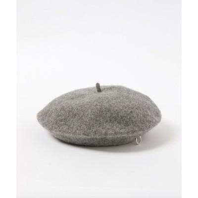 帽子 curetty/ブローチ付きベレー帽 2924155