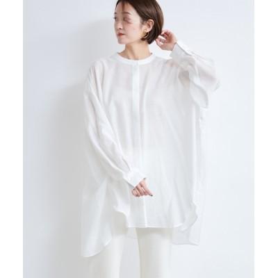 DouDou / シアーオーバーチュニックシャツ WOMEN トップス > シャツ/ブラウス