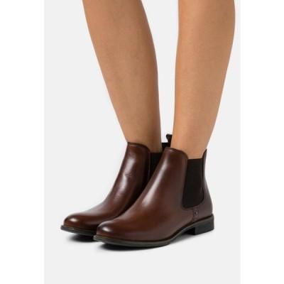 アンナフィールド レディース 靴 シューズ LEATHER - Classic ankle boots - cognac