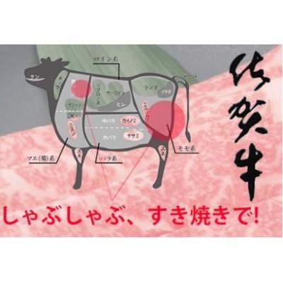 佐賀牛しゃぶしゃぶすき焼き用(赤身・肩ロース) 400g 【フルーム】[FAZ006]
