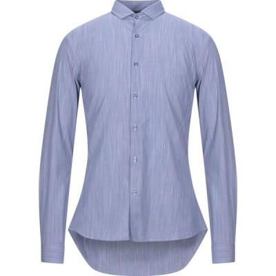 ニール カッター NEILL KATTER メンズ シャツ トップス Solid Color Shirt Slate blue